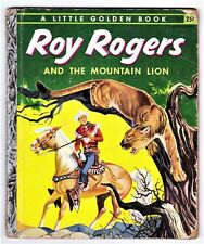 Little Golden Book nº 231: ROY ROGERS AND THE MOUNTAIN LION. Simon & Shuster ed.