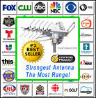 HDTV Outdoor Amplified Antenna HD TV 36dB Rotate Remote 360° UHF/VHF/FM 150 Mile