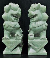 """Pair of 10"""" Light Green Jade Foodogs (HJ023)"""