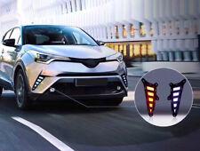 2pcs White/Yellow DRL Daytime Running Lights Led for Toyota CHR C-HR 2018 New