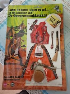Vintage Rare Marx/Gabriel The Lone Ranger GUN RUNNERS Action Figure outfit