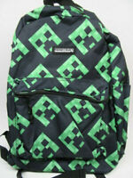 """Minecraft Creeper All Over Print 16"""" Backpack, School Book Bag **NEW**"""
