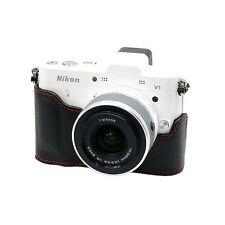 New HORUSBENNU HC-V1 Synthetic Leather Camera Half / Bottom case for Nikon1 V1