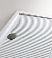 Piatto doccia 80x100 1^scelta rettangolare ceramica bianca Ferdy Azzurra