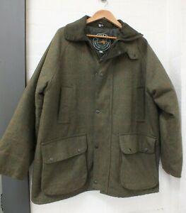 Rydale Green Tweed Sporting Hunting Coat Field Jacket Size Large (Nee]