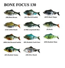 Bone Focus 130mm 40g ~ Floating Swimbait lure ~ 4 + 1 Towing Eyelets