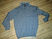 Murray Golf Grey Cotton Knit Half Zip Jumper/ Sweater - Size XL