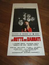 LOCANDINA, LA NOTTE DEI DANNATI,1971,Pierre Brice, Filippo Walter Ratti,
