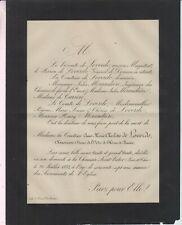 1888 Faire-part décès Anne-Marie-Charlotte de LOVERDO La Chaussée-Saint-Victor.