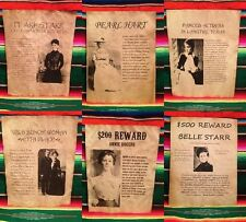OLD WEST WANTED POSTER OUTLAW BANDIT OAKLEY CALAMITY STARR RINGO DOC KID WESTERN