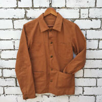 60s Style French Duck Brown Cotton Canvas Chore Jacket - Various Sizes