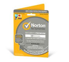 Norton Internet Security 3.0 Premium Multi Device 10 User 1 Year 2019 Retail Box