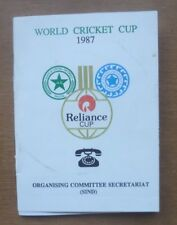 World Cup 1987, Review of Arrangements - Booklet, 40 Pages (5.5'' x 4'').