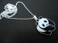 """Un bonito Oso Panda Collar. Nueva. 18 """"chain."""