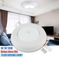 Bright Wireless Battery Powered Motion Sensor LED Ceiling Light Cabinet White