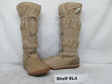 Sorel Firenzy Taupe Leather Waterproof Winter Boots Size 6.5 Style NL1583-201