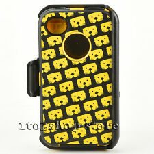 Defender Rugged Hard Case w/Holster For iPhone 4 iPhone 4s (Graphics Multi Gold)