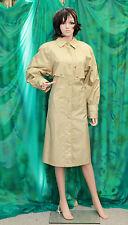 NAUGE womans rubber backed shiny satin swishy raincoat  TV champagne size 10