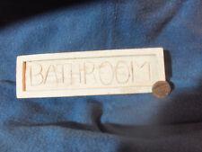 Bagno segno in legno
