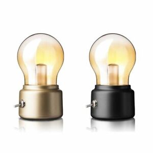Retro LED Bulb Night Light USB Glass Portable Desk Table Decoration 2020 Lamp