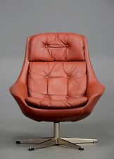 Vintage Danish Leather Armchair by H.W.Klein