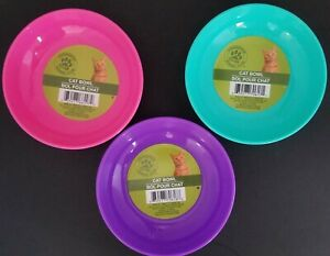 """Cat Kitten Non-Slip Bowls Food Water 5"""" X 1.5"""" S21 Select: Color"""