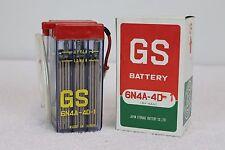 HIGH QUALITY GS BATTERY 6N4A-4D-1  6V - RARE CLEAR CASE-YAMAHA RD60 CT2 G6 XT125