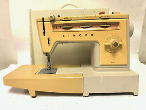 Vintage Singer 538 Sewing Machine w/ Extension Table, Case, Pedal