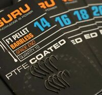 Brand New Guru F1 Eyed Barbless Hooks All Sizes Available