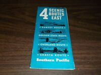 APRIL 1939 SOUTHERN PACIFIC 4 SCENIC ROUTES EAST BOOKLET