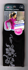 SCUNCI 1 ULTRA COMFY EVERYDAY ACTIVE REFLECTIVE REVERSIBLE BLACK HEADBAND HAIR