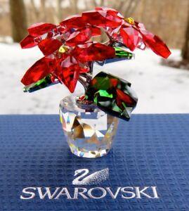 SWAROVSKI Crystal Christmas Small Poinsettia Figurine #5291023 Mint & New in Box