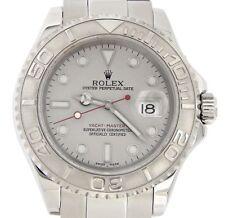 Rolex Yacht Master Mens Stainless Steel & Platinum Dial Bezel Watch 40mm 16622