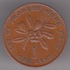 Giamaica 1 CENTESIMI 1974 moneta bronzo-Ackee FRUTTA-FAO