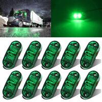 10x 12V-24V 2 LED Green Side Marker Indicator Light for Truck Trailer Lorry Lamp