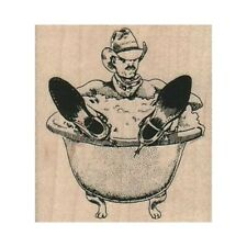 NEW Cowboy Bath RUBBER STAMP, Cowboy Stamp, Western Stamp, Old West Stamp
