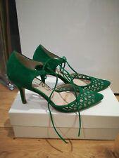 L.K. Bennett Fauna Green Suede Court Shoes size 39 (UK6)