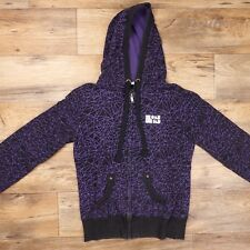 One Industries Women's Hooded Sweatshirt Coat Size Medium Black/Purple Full Zip