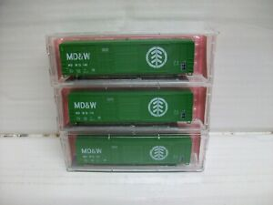 """N Scale RoundHouse 6164 (3)50' PS Box Car w/Youngs Town Door """"MD&W"""""""