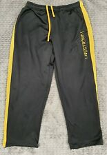 Nike Thermafit Men's Black Yellow Livestrong Track Pants Size XL