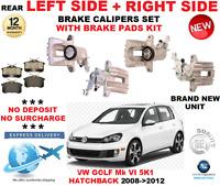 Per VW Golf Mk VI 5K1 Hatchback 2008-2012 Posteriore SX + Destro Pinza Freno +