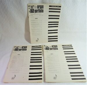 RARE Lot Of Three (3) 1968 THE ORGAN PORTFOLIO - FEB-APR-OCT - GoodCond $17.88