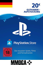 PSN 20 EURO PlayStation Network Code Card - €20 PS4 PS3 PS Vita Guthaben - DE