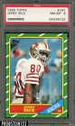 1986 Topps Football #161 Jerry Rice San Francisco 49ers RC Rookie HOF PSA 8