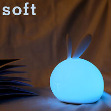 7 Color Cambiables LED Soft Rabbit Lámpara de luz Nocturna  & USB Kids Gift