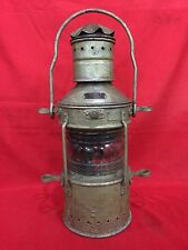 HUGE ANTIQUE ANCHOR GERMAN MARINE LANTERN JH PETERS & BEY HAMBURG 11 NAUTICAL W2
