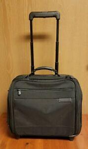 """BRIGGS & RILEY 2 WHEEL Baseline ROLLING CABIN BAG 15"""" Briefcase Black BRW14"""