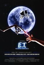 E.T. EXTRA TERRESTRIAL MOVIE POSTER 2 Sided 20th Ann. ORIGINAL FINAL  27x40