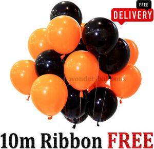 "50X Latex PLAIN BALOON HALLOWEEN 10"" inch BALLOONS Quality Party Birthday decor"