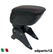Bracciolo Portaoggetti Nero Cuc. Rosse Per Peugeot 306 307 407 207 206 106 208